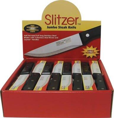 CTSZJS48: SALE-Slitzer 48pc Jumbo Steak Knives in Countertop Display