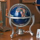 HHGLB220/00: SALE-KASSEL SMALL GLOBE WITH  SEMI-PRECIOUS STONES AND STAND