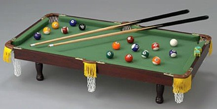 "SPECIAL SALE SPPT/00: CLUB FUN 36"" Deluxe Tabletop Miniature Pool Table Set oos til 6/30"
