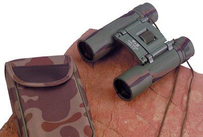 SPBINC10: Magnacraft 10x25 Camouflage Binoculars with Matching Carrying Case