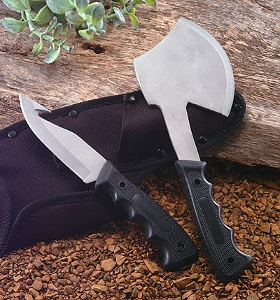 SKAX2: Maxam 2pc Hunting Knife and Ax Combo