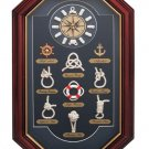 HHKNOTCLK/00: SALE Quartz Clock in Nautical Knots Shadow Box