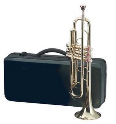 HHTRUMP/00: MAXAM Brass Trumpet with Mouthpiece and Case