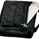 LULBIBLE/00: Embassy Italian Stone Sewn Leather Bible Cover with Cross Zipper Pull