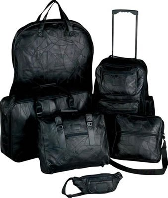 LUL62/00: SALE-Embassy Genuine Patch Leather 6pc Luggage Set