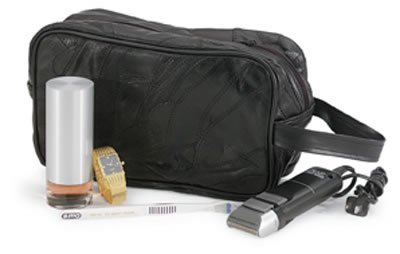 LULSHAVE/00: Embassy Genuine Sewn Leather Personal Travel Bag