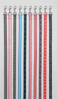 """SPL10/00: Club Fun 10 pc Set of Assorted Stylish Pet Leashes - Each is 45"""" Long"""