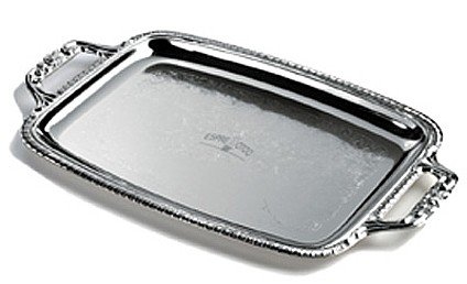 KTT8/00: Sterlingcraft Oblong Serving Tray with Handles