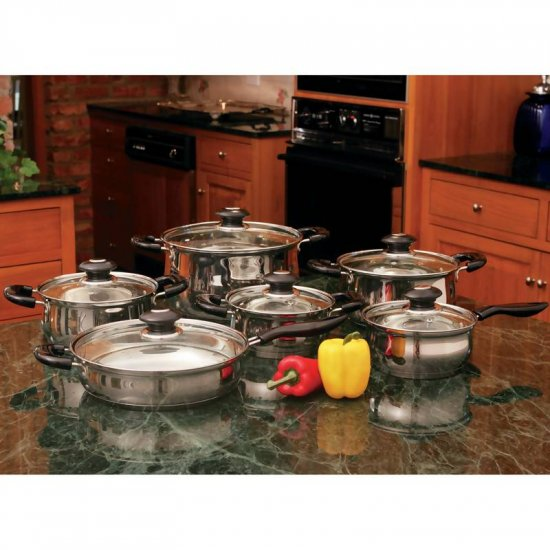 KTS123: SALE-Wyndham House 12pc Stainless Steel Cookware Set