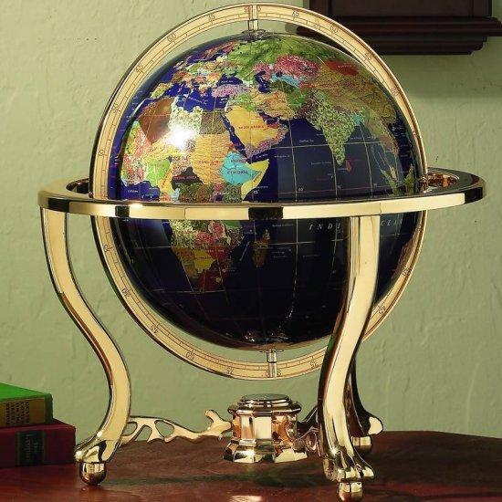 "HHGLB3302/00: SALE-Kassel 13"" (330mm) Diameter Decorative World Globe"