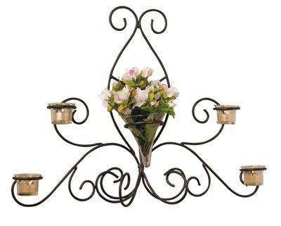 LB47111B/00: SALE-Luca Bella Home Olivia Wrought Iron Sconce