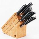 CTB8/00: Maxam 8 pc Drop Forge Style Cutlery in Wood Block
