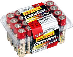 LR6-PB24: CAMELION AA Alkaline Long-Life Batteries-24: Add to order for little to no extra on S&H