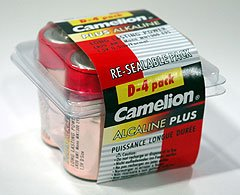 LR20-PB4: CAMELION D Alkaline Batteries-4 Pk: Add to your order for little to no extra on S&H