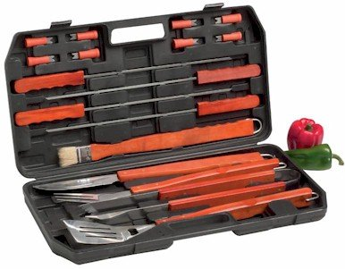 KTBQ18/00: CHEFMASTER 18 pc Barbeque Set
