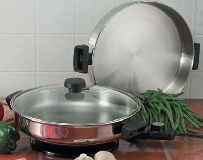 KTES2/00: SALE-PRECISE HEAT Electric Skillet-It's like 3 pans in one