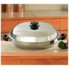 KTPP382/00: Precise Heat Stainless Steel 12-Element Jumbo Casserole Pan w/ Steam Control Cover