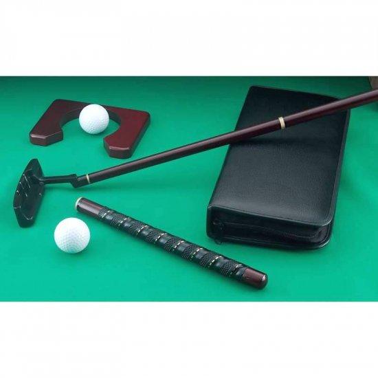 SPUT/00: MAXAM Cherry Wood Travel Golf Set Putting Set-Great Stess Reliever