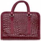 DBBLRA1/00: Gigi Chantal™ Red Faux Alligator Bible Cover with Cross Zipper Pull