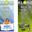 CKBKLENZ/00: KLENZ XXL Shower in a Towel  - Great for Camping, Hunting, Vehicles and More