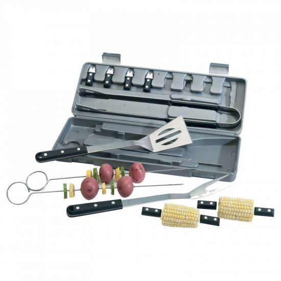 KTBQS16/00: SLITZER 16 pc BBQ Tool Set with Bakelite Handles