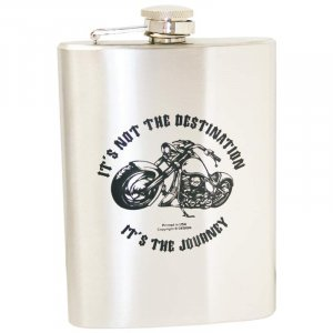 KTFLASK8BD/00: Wholesale Maxam Stainless Steal Biker's Flask - 8 oz.