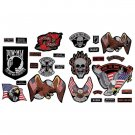GFPATCH26/00: Wholesale Diamond Plate™ 26pc Embroidered Motorcycle Patches