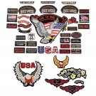 GFPATCH41/00: Wholesale Diamond Plate™ 40pc Embroidered Motorcycle Patches