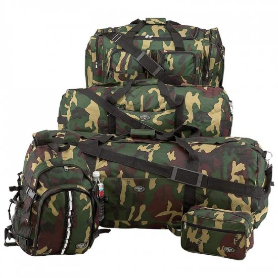 LUCAMSET/00:  Extreme Pak� 5 pc Luggage Set with Invisible� Camouflage Design