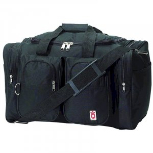 LURC26/00: Royal Crest Black Tote Bag