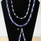Blueberry Quartz Necklace, bracelet, & Earrings