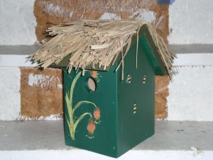 Cabana Banana Bird House Hand-Made!