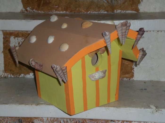 Seashell Dreams and Egg Salad Wishes Custom Bird House!!