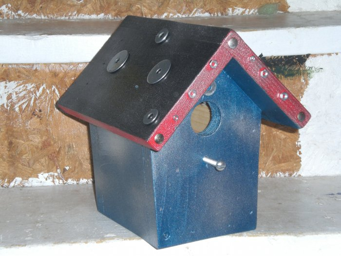 Motor Madness Hand-Made One-of-a-KIND Bird HOUSE!