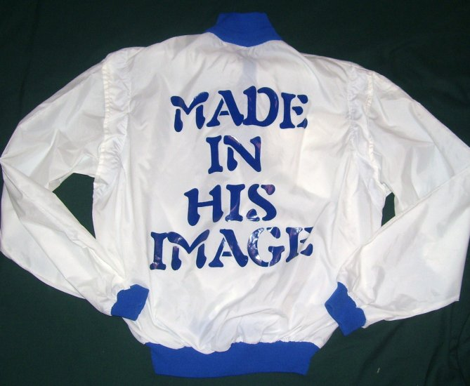 Made In His Image (blue/white)