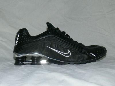 Black Silver Nike Mens Shox R4 US 10