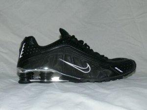 Black Silver Nike Mens Shox R4 US 10