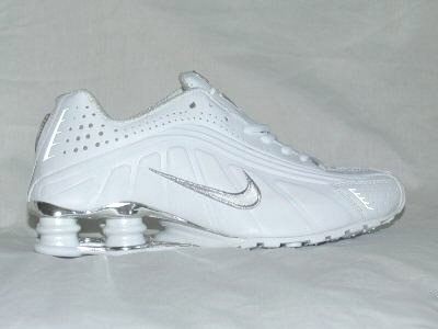White Nike Mens Shox R4 US 8