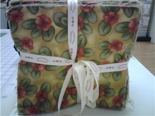"""Flannel Rag Quilt - 180 Pre-cut Squares, Makes a 54"""" x 60"""" Quilt."""