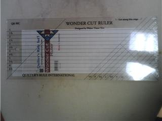 "Wonder Cut Fabric Ruler - 8"" x 14"""