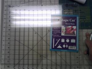 """Shape Cut 12"""" x 12"""" Slotted Ruler"""