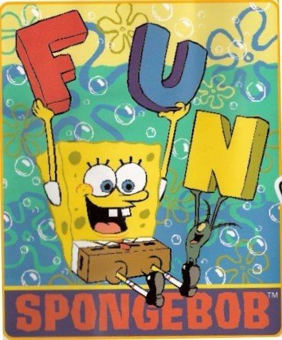 Sponge Bob Fleece Blanket or Throw-FREE SHIPPING