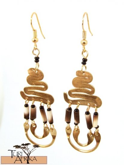 Product ID: 3     Brass Earrings W/ Porcupine Quills