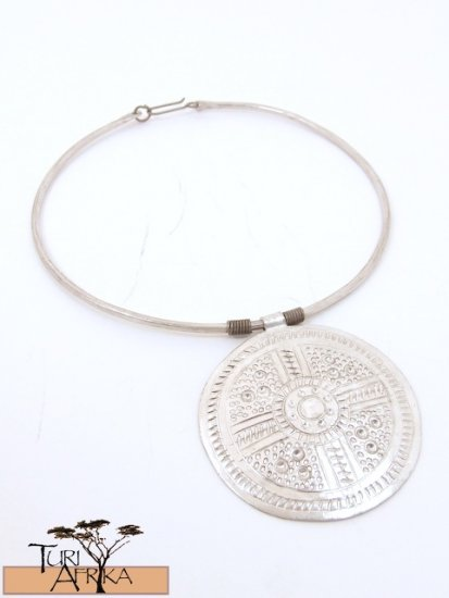 Product ID: 31     Aluminum Choker W/ Large Etched Disk