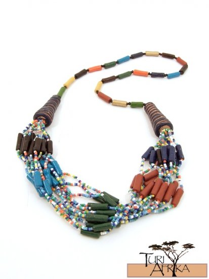 Product ID: 32     Ceramic Multi-Coloroed Bead Necklace