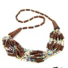 Product ID: 33     Ceramic Brown Bead Necklace