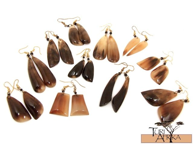 Product ID: 35     Cow Horn Earings (Various Sizes and Shapes) (Sold Per Pair)