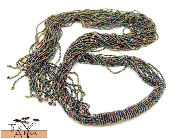 Product ID: 38     Beaded Belts / Necklace  (Dark Blue)