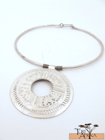 Product ID: 148     Aluminum Choker W/ Large Alum Disk W Hole In It