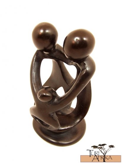 Product ID: 152     Small Soapstone Family Sculpture